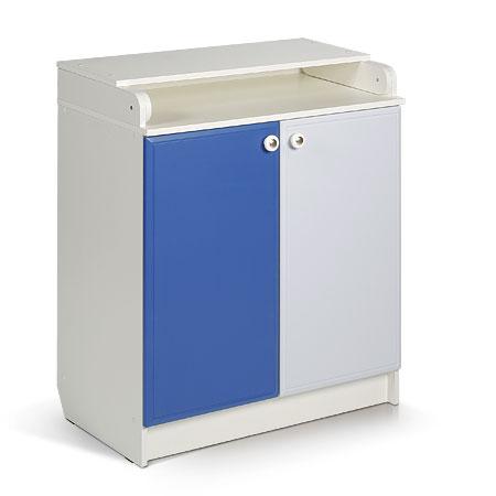 Комод пеленальный. Цвет: белый+синий,голубой
