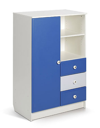 Шкаф. Цвет: белый+синий,голубой