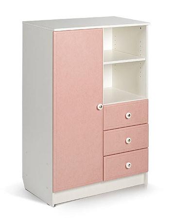 Шкаф. Цвет: белый+розовый