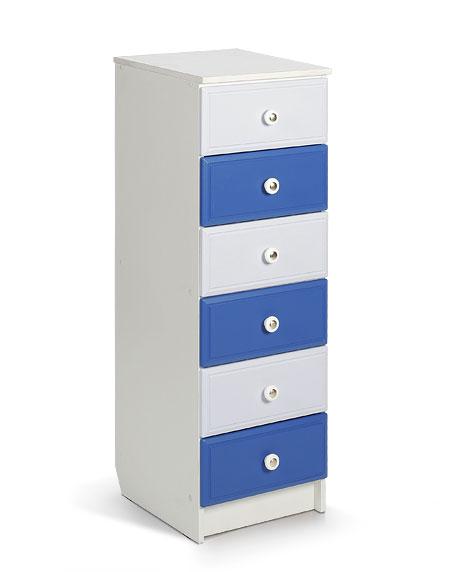 Пенал (404*453*1189) Цвет: белый+синий,голубой